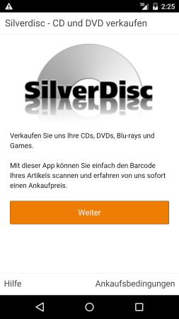 Silver Disc - CD DVD Blu-ray Ankauf App für iPhone und Android