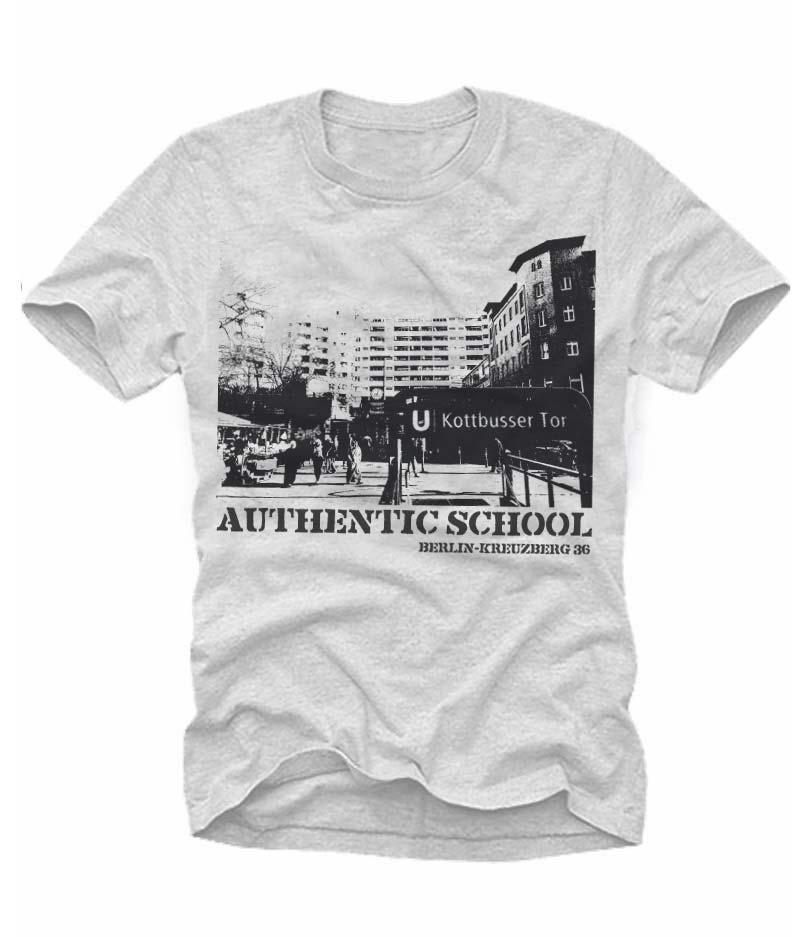 Authentic School - Ein T-Shirt aus der SO36 Streetwear Kollection von Silver Disc. Mode aus dem Berliner Szenekiez - Dem Wrangelkiez