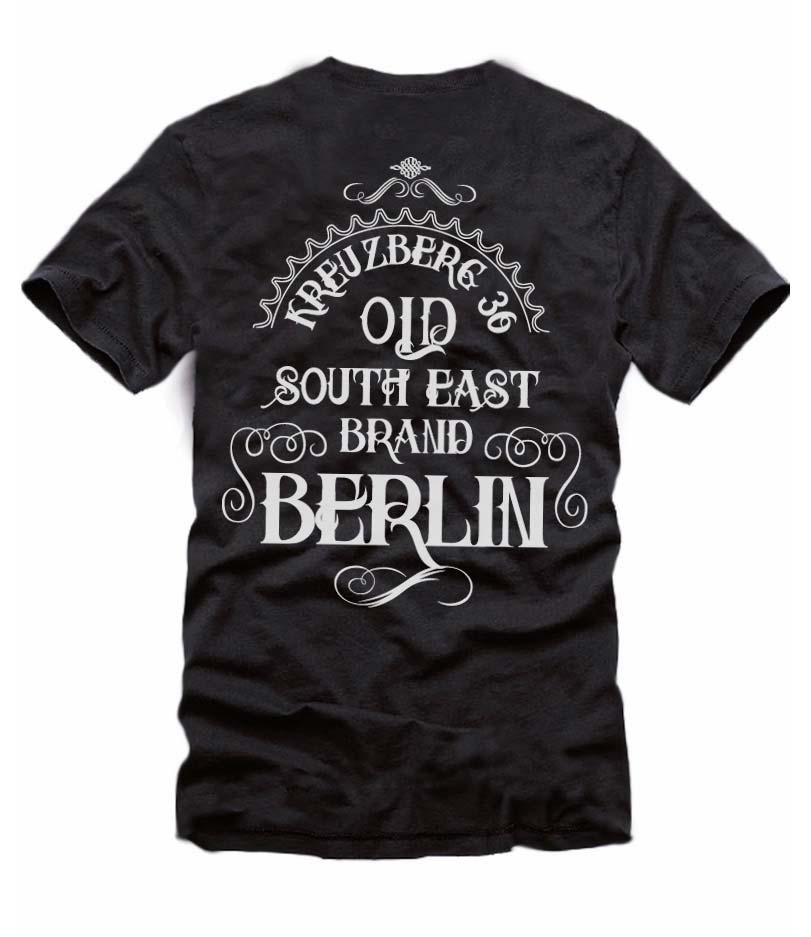 Old South East Brand - Ein T-Shirt aus der SO36 Streetwear Kollection von Silver Disc. Mode aus dem Berliner Szenekiez - Dem Wrangelkiez