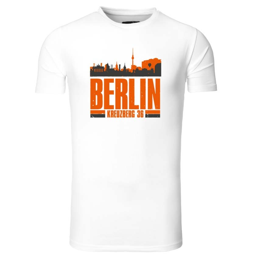 Berlin - Skyline - Ein T-Shirt aus der SO36 Streetwear Kollection von Silver Disc. Mode aus dem Berliner Szenekiez - Dem Wrangelkiez