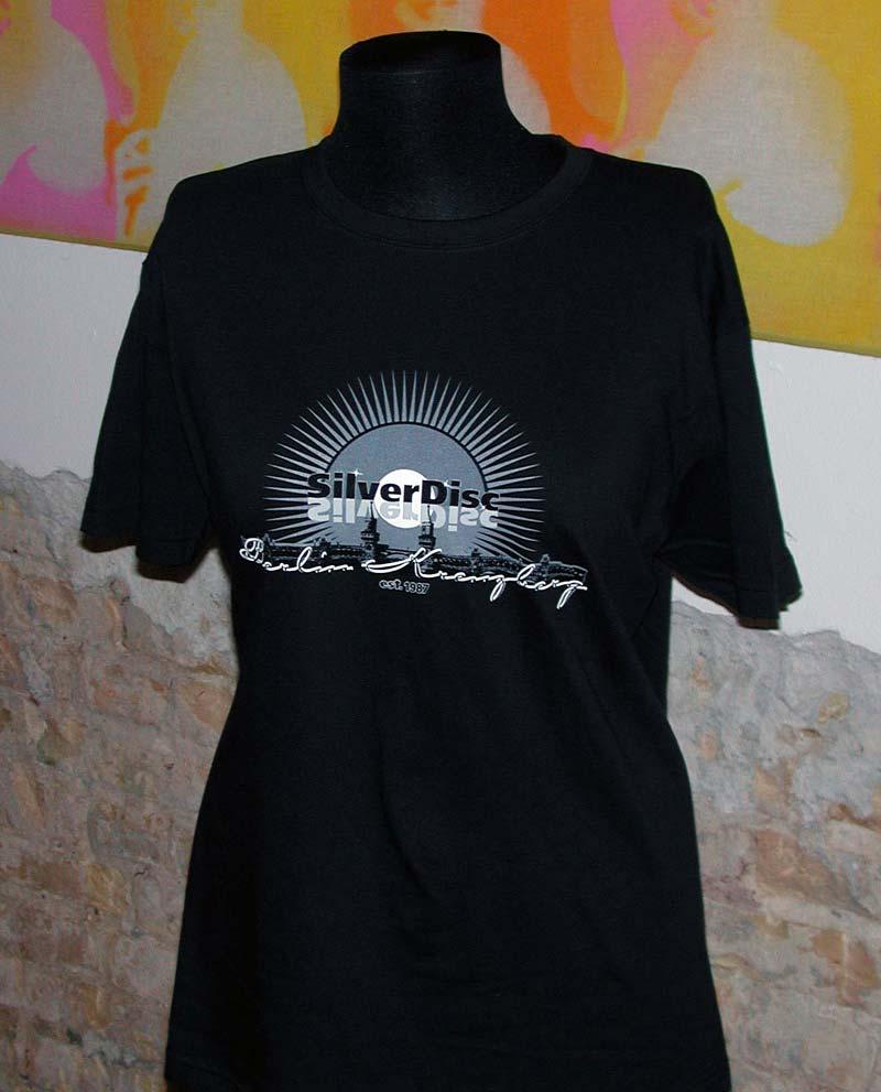 Das legendäre Silver Disc T-Shirt in schwarz