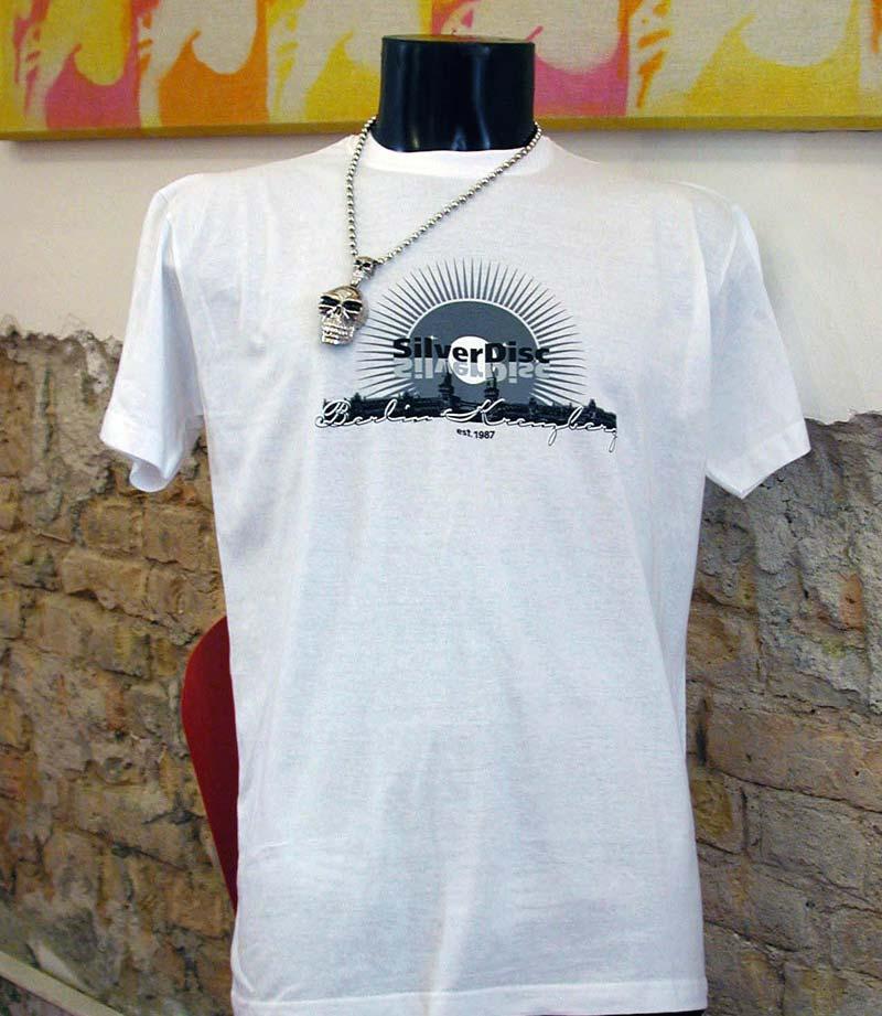 Das legendäre Silver Disc T-Shirt in weiß