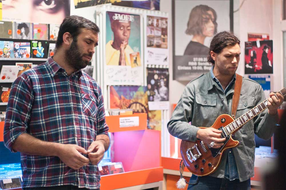 Coppersky die Rock Band aus Holland bei uns im InStore Gig