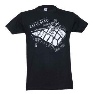 Kreuzberg - Wrangelkiez Karte - SO36 Streetwear Kollektion – T-Shirt - Mode aus dem Berliner / Kreuzberger Wrangelkiez
