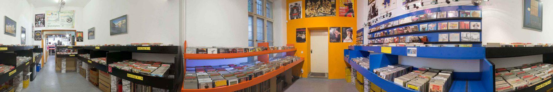 Panorama von Silver Disc - zweiter Verkaufsraum - Foto: Ralf A. Hanke